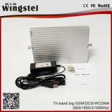 Новых повторитель сигнала Tri Band Mobile усилителем сигнала оптовой усилитель с антенной