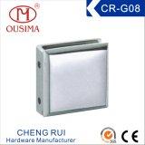 Pince de fixation en verre de salle de bain carrée en alliage de zinc (CR-G06)