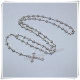 Il metallo borda il rosario/il rosario branelli di ovale/punto religioso/i rosari/rosario cattolici dei branelli Mary di Virgin (IO-cr399)