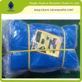 Dever Tarps poli azul, encerado azul do PE 100GSM do polietileno