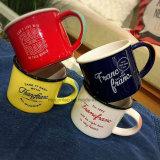 Caneca do leite das canecas de café do esmalte com cópia feita sob encomenda a caneca para o logotipo do OEM do presente