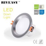 3W 2.5 lampe DEL Downlight du projecteur DEL d'éclairage de pouce 3CCT