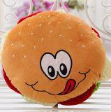 Kussen van het Hoofdkussen van de hamburger het Pluche Gevulde