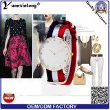 Yxl-228 Moda Hombre Reloj Simple Color Nylon Correa Mujer Reloj Casual Reloj Cuarzo Reloj Clásico Relogio Masculino Vestido Señora Reloj