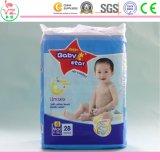 Couche-culotte remplaçable de bébé du bébé S36 de coton organique doux d'étoile
