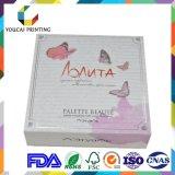 Caixa de embalagem cosmética de forma quadrada elegante com padrão UV personalizado