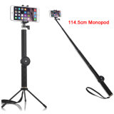 1145mm Aluminium Extensible Handheld Bluetooth Selfie Stick avec porte-trépied