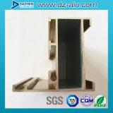 Profil en aluminium anodisé de couleur en bronze pour le produit de porte de guichet de la Libye Libéria