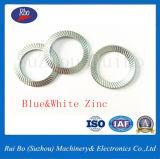 Double rondelle latérale galvanisée d'acier de blocage du moletage DIN9250