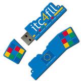 Lecteur flash USB personnalisé 3D de PVC de qualité formé