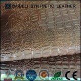 Couro do PVC da grão do crocodilo para a decoração do sofá/cadeira/base/Tablecloth/mobília