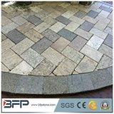 Piedra de pavimentación amarilla brumosa del granito G350 para la decoración exterior