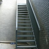 Escada de estrutura de aço galvanizado com molho quente / escada de aço (SSWS-003)