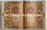 역사 문서 PU Leather/MDF 나무로 되는 책 모양 벽 예술