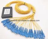 PLC van de Plastic Doos van de Telecommunicatie van Gpon 1X32 Splitser