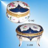 Handgeschilderde porseleinen-Triniket/Juwelen doos (C-142, C-208)
