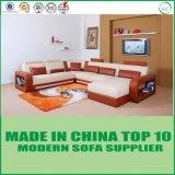 Conjunto superventas del sofá del cuero del ocio del salón