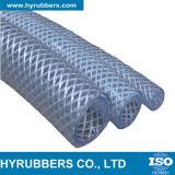 Tubo di gomma del gas dell'acciaio del tubo flessibile a spirale trasparente del PVC