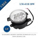 Luz de niebla auxiliar de la pulgada LED de la luz de reserva 4 de la pulgada LED de la luz 4 del LED 18W