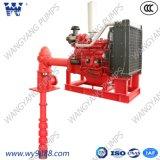 El eje de la línea de motores diesel de la turbina Vertical fabricante de bombas de agua contra incendios
