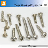 Blue Zinc Phillips Pan Head Shoulder Self Tapping Screw