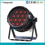 54X3W RGBW 4en1 LED DMX impermeable al aire libre par de latas