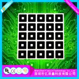 Boutons en aluminium de plaque de constructeur de la Chine gravant la touche à effleurement en relief