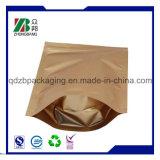 Bolso de encargo del papel de aluminio del bloqueo del cierre relámpago con la ventana