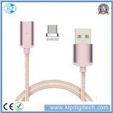 ¡Venta de separación! ¡! ¡! Cable magnético trenzado de la transferencia de datos del cargador del USB del nilón universal para el androide