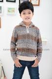 1/4のジッパーによって縞で飾られる模造されたタートル・ネックの子供のジャンパー