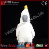Brinquedo macio enchido realístico do papagaio do luxuoso do pássaro do Cockatoo Enxôfre-Com crista