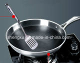 18/10 Cuisine en acier inoxydable Cuisine Wok chinoise (SX-WO32-24)