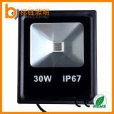 Warmes dünnes LED Aluminiumflutlicht der Weiß 30W IP67 PFEILER Flut-Lampen-