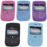 Couverture protectrice de caisse de veste de peau de silicone pour Blackberry 8900
