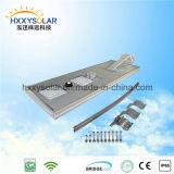 IP68 5W-120W庭(HXXY-ISSL-5-120)のためのリモート・コントロールの統合されたLEDの太陽通りセンサーライト