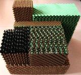 Almofada evaporativa do refrigerador de ar da cor verde de Brown/almofada refrigerando para o refrigerador de ar