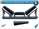 Convoyeur à courroie Center-Adjusting conique en acier rouleau du tendeur