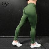 Pantalones al por mayor baratos de la yoga de las señoras de las nuevas del diseño polainas de nylon del Spandex