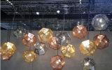 ホテルのレストランのための装飾的なローズの金のステンレス鋼の屋内ハングの照明設備の吊り下げ式の照明