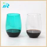 12oz Tritan vino de plástico Cristal Stemless taza de café
