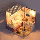 Giocattoli educativi con il mini legno chiaro della Camera di bambola della mobilia LED