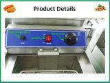 Equipamento de cozinha de alta qualidade de aço inoxidável profunda fritadeira gás comercial