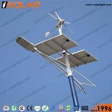Isolar 8mの50W太陽風ハイブリッドLEDの街灯