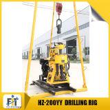 Petite 200m de profondeur hydrauliques appareil de forage de base (Hz-200YY) avec la perceuse mât
