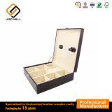 Lazo de piel de cocodrilo de almacenamiento Cufflink Caja Caja de regalo