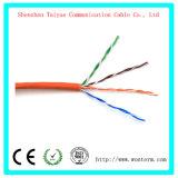 Cavo di lan di Cat5e con 350 megahertz UTP 24AWG, cavo di Ethernet di rame nudo solido della prova 1000FT della passera 8c
