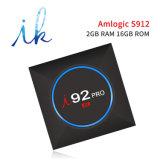 I 92 PROspeicher des Android Fernsehapparat-Kasten-S912 2GB des Speicher-16GB mit Support 4K HD BT der Digitalanzeigen-2.4GHz+5.8GHz WiFi