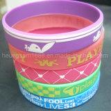 Prezzo di fabbrica con il braccialetto stampato del silicone di marchi