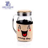 bottiglia di vetro 270ml con il coperchio del panno ed il sughero (GB25169270/MT/DR/393A)