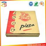 Commerce de gros logo personnalisé de l'impression Carton Ondulé 10 12 pouces blanc noir de la Pizza Emballage
